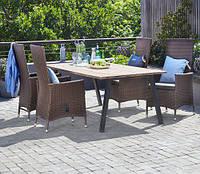 Набор садовой мебели SANDVIG 200см + 4 SKIVE коричневий, фото 1