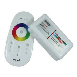Контролер для LED RGB стрічки gtw система RF 18А 12Vс радіо пультом сенсорний білий Код.57840