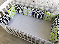 Защита в кроватку, бортики подушки «Сочные груши»