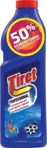 Профессионал-гель для устранения и профилактики засоров в канализационных трубах Tiret 1 л по цене 500 мл!