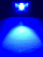 Светодиодный линзованый прожектор SL-50Lens 50W синий IP65 Код.59053