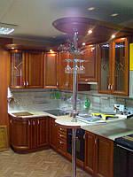 кухня из дерева с барной стойкой фото 71