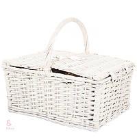 Плетеная корзина для пикника на 2 персоны с термостойкой сумкой