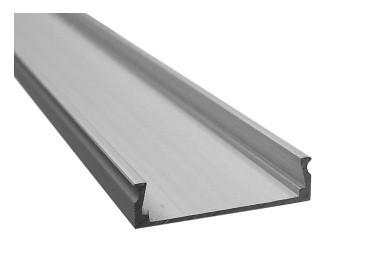 Алюмінієвий профіль CAB 263 для LED стрічки срібло (за 1м) Код.57759