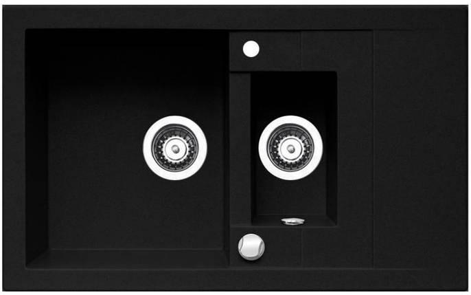 Кухонная мойка PYRAMIS STUDIO (78X48) 1 1/2B1D GRANIT, фото 2