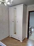Шкаф деревянный 1800х550х2200 с зеркалом  из МДФ