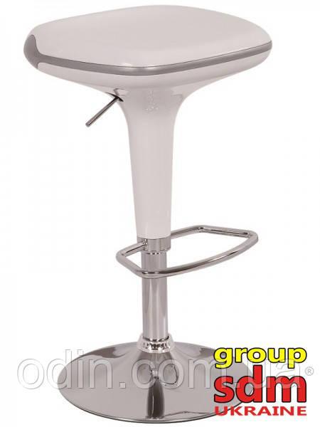 Стул барный Домиан, пластик, хромированный, цвет белый k00136wh