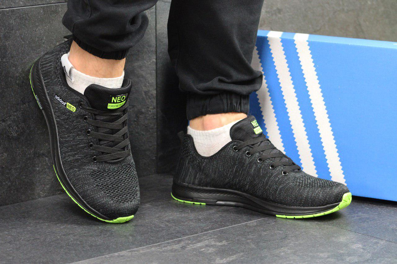 ee13895d shock.org.ua | Кроссовки мужские темно серые с салатовым Adidas Neo ...