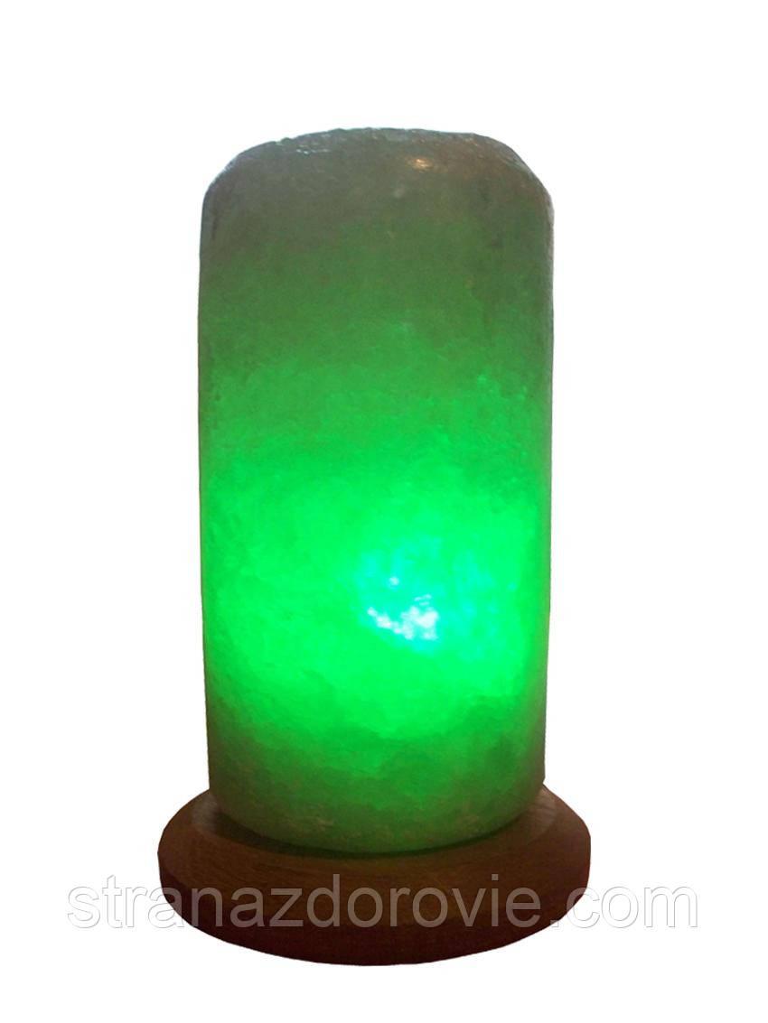 Солевая лампа Цилиндр Свеча малая 2-3 кг.Белая,Цветная лампочка
