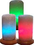 Солевая лампа Цилиндр Свеча малая 2-3 кг.Белая,Цветная лампочка, фото 5
