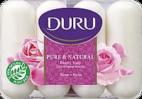 Мыло DURU PURE&NATURAL Роза (4*85 г.)
