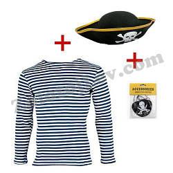 Піратський набір тільник, шапка, пов'язка