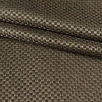 Блэкаут (светонепроницаемые шторы) лен льняная ткань шахматка зелено серый
