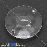 Бусина-коннектор акриловая, Круглая, 30х30 мм, Прозрачная, 1 шт. (KAB-007463)