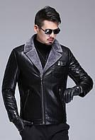 Куртка кожаная мужская  на овчине.Натуральная кожа.