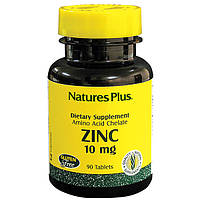 Natures Plus, Цинк 10мг, 90 таблеток