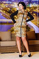 Стильное женское платье в модный принт, фото 1