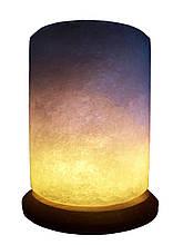 Соляна лампа Циліндр Свічка 4-5 кг. Біла,кольорова лампочка
