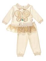 Нарядний костюм для дівчинки кофта і штанці 68р