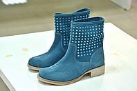 Весенне-летние ботинки голубые без подкладки BRAWN'S к.-376