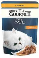 Консервы для кошек Gourmet Perle Purina (Пурина) курица в подливке