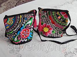 Яскрава жіноча сумка на плече різні малюнки
