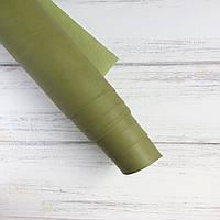 Шкірзамінник палітурний - матовий - салатовий VH070 - виробник Італія - 25х35 см