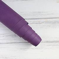 Шкірзамінник палітурний - матовий - фіолетовий світліший VH069 - виробник Італія - 25х35 см