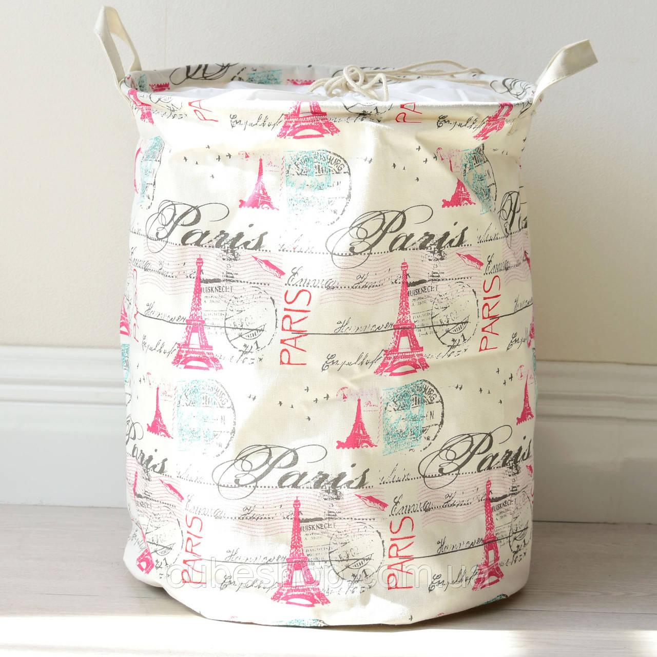 Корзина для белья и игрушек на завязках Paris
