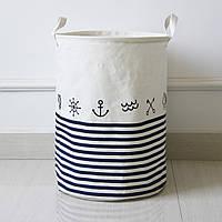 Корзина для белья и игрушек на завязках Sea, фото 1