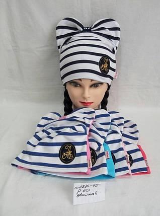 Подростковая шапка для девочки Бант р.50, фото 2