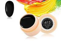 Гель краска, цветной гель Canni 613, черный