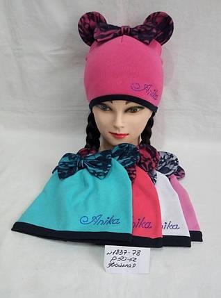 Подростковая шапка для девочки Аника р.50-52, фото 2