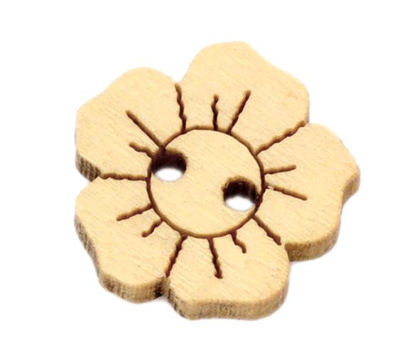 Пуговицы  цветочки 15мм. 10шт в наборе