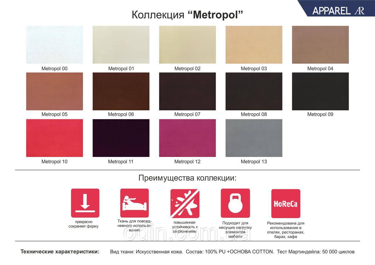 Кожзам Метрополь (Metropol) искусственная кожа ширина 1,4 м.п.