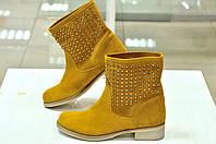 Весенне-летние ботинки желтые без подкладки BRAWN'S к.-375