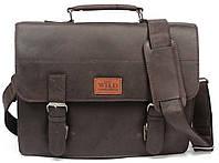 Сумка-портфель из натуральной кожи Always Wild NZ-T1 коричневый