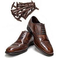 Силиконовые шнурки для кожаной обуви Коричневый