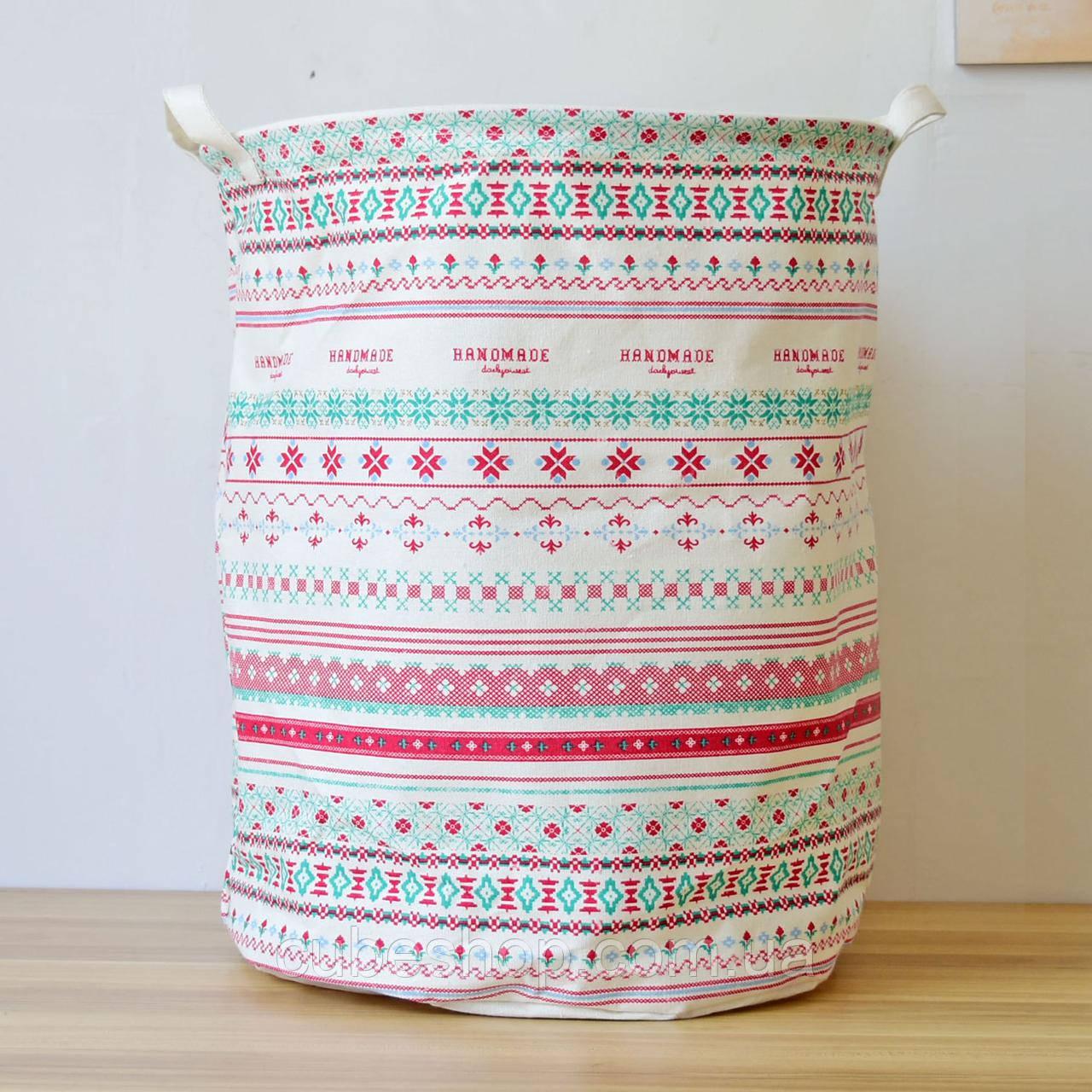 Корзина для белья и игрушек на завязках Pattern