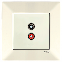 Аудиорозетка Крем Meridian Viko, 90970237-WH