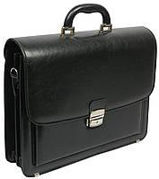 Мужской деловой портфель из искусственной кожи Jurom Польша 0-33/2-111 чёрный