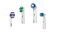 Насадки для зубной щетки ORAL-B 4 шт. (Sensitive, Precision Clean,  Floss Action, 3D-White)