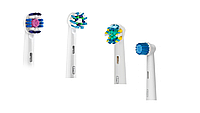 Насадки для зубной щетки ORAL-B 4 шт. (Sensitive, Cross Action,  Floss Action, 3D-White)