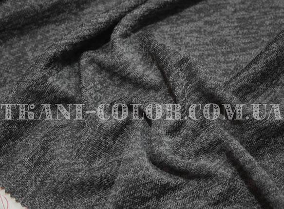 Трикотаж ангора софт темно-сірий меланж, фото 2