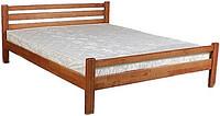 Ліжко півтораспальне з натурального дерева в спальню, дитячу Веста 140*200 Sovinion