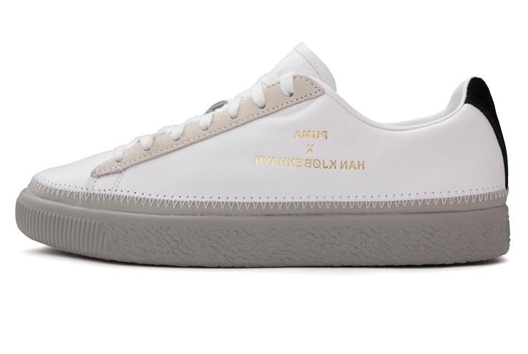 Мужские кроссовки Puma x Han KJØBENHAVN Clyde Stitched White Black (Реплика  ААА+) c9bf22e67