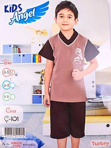 Детский комплект футболка+шорты для мальчика Турция. Kids Angel C-101. Размер 3-5 лет.