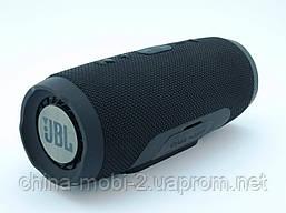 JBL Charge 3+ E3+ Bluetooth колонка 20W с FM MP3, реплика, черная, фото 3