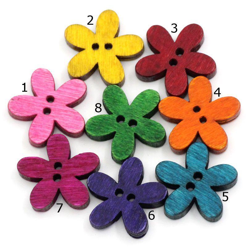Пуговицы  цветочки  20мм. 10шт в наборе