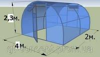 Дополнительная секция к теплице 4х2м с поликарбонатом  SOTALIGHT 4мм